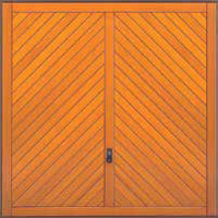 Hormann Series 2000 timber up and over garage doors Style 2010 Chevron